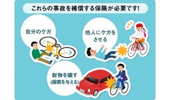 自転車事故に備える2つの保険