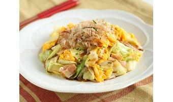 ズボラ飯レシピ⑤ キャベツのお好み焼き風スクランブルエッグ